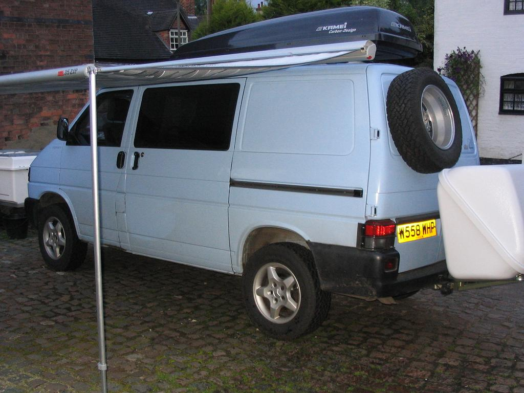 vw transporter t4 syncro camper conversion t4 spare wheel carrier. Black Bedroom Furniture Sets. Home Design Ideas